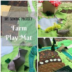 My little 3-year-old nephew is crazy about tractors and farm life. Last birthday I made him this adorable quiet book, which was one of my firsts. Farm playscape mat seemed as a logical next step on his imaginative play journey. Farm Playscape Mat – unique gift for 3-year old I made sketch in a real size. Put everything I wanted to be there: road, river, bridge, fields, meadows, lake, house, pond and big garden. It did not take long, with few adjustments I had it just the way I imagined. I…
