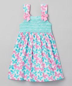 Look what I found on Nannette Turquoise & Aqua Dress - Toddler & Girls by Nannette Toddler Girl Dresses, Girls Dresses, Toddler Girls, Summer Dresses, Aqua, Turquoise, Little Girl Fashion, Summer Kids, Baby Dress