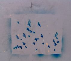 graffiti stencil birds