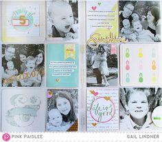 Pocket Pages: Family Of 5 @gail_lindner @pinkpaislee #pinkpaislee #ppcitrusbliss #scrapbooking #pocketpages #DIY