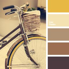 Warm beige and brown colors complemented with neutral yellow. This combination is natural for the exteriors of a country house or a villa. This color solut