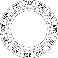 Studio Calico Cling Stamp Round Calendar - Scrapbook and Bullet Journal Printables, Card Sentiments, Studio Calico, Tampons, Copics, Planner Pages, Project Life, Digital Stamps, Cardmaking