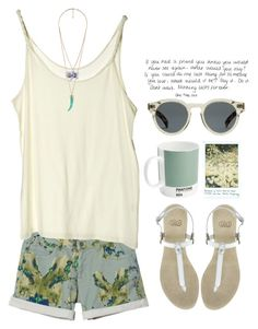 """Sin título #275"" by maartinavg ❤ liked on Polyvore featuring See by Chloé, Cheap Monday, Forever 21, Faith and Illesteva"