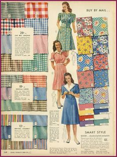 Sears Catalog Summer 1943 Fabric Doll Pattern Dolls Patterns