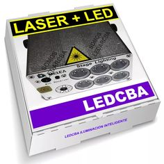laser + led 12 figuras + 6 led x 3w rgb control remoto