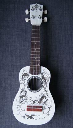 Rijksstudio Esias Van Hulsen inspired painted ukulele by LizardPop, £75.00