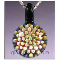 Glass Jewelry Lampwork Pendant Sea Anemone Boro Focal Bead -  Glass Peace Glass Jewelry (3935) via Etsy