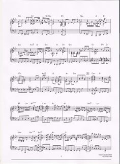 lupin the third jazz sheet music