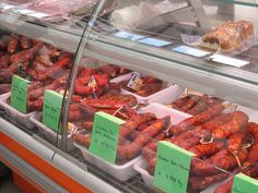 Sausages at Loule market, Algarve, Portugal by ziksby, via Flickr