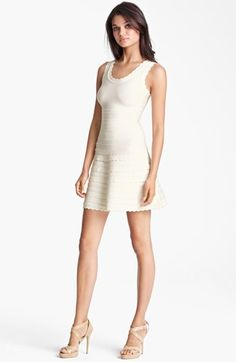 Herve Leger Scalloped A-Line Dress available at #Nordstrom