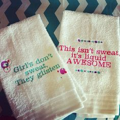 Custom Personalized Women's Gym Towels by AdornmentsbyA on Etsy, $18.00