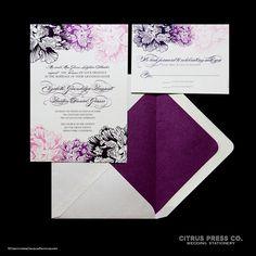 Chrysanthemum Wedding Invitation/ DIY PDF by CitrusPressCo on Etsy, $3.95