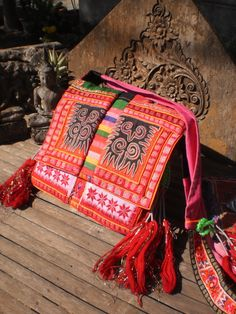 Tribal Hmong Vintage Textile Embroided Bag by KulshiMumkin on Etsy, $45.00
