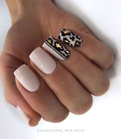 Easy Spring Nails & Spring Nail Art Designs To Try In Simple spring nails colors for acrylic nails, gel nails, shellac spring nails, as well as short spring nails. These easy Spring nail art ideas with flowers, glitter and pastel colors are a must try. Matte Nail Art, Cute Acrylic Nails, Acrylic Nail Designs, Nail Art Designs, Nails Design, Leopard Nail Designs, Gel Manicure Designs, Salon Design, Square Nail Designs