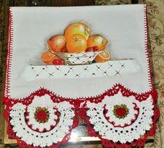 Frutas com bico de croche