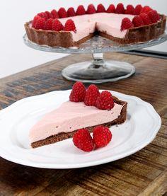 raspberry dark & white chocolate tarte!! Loving it!! Photo by Laura Naemi Richert