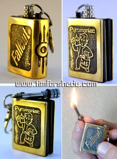Fallout Pyromaniac Match Lighter Keychain by TimforShade on DeviantArt Fallout Facts, Fallout Props, Fallout Game, Fallout New Vegas, Fallout Merch, Fallout Tattoo, Nintendo 3ds, Nuclear Winter, Cool Lighters