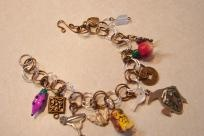 COOL Bronze/Silver Colorful Charm Bracklet