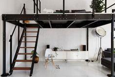 lit mezzanine deux places fonctionalit et variantes cr atives chaise design en bois lits. Black Bedroom Furniture Sets. Home Design Ideas