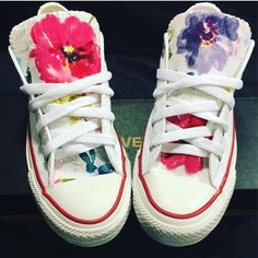 07a2fa9fbaf5 These low top floral Converse shoes are hand sewn with love! IMPORTANT  If  youve