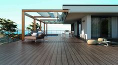 Many homeowners are aware of deck rot and attempt to avoid the costly water damage to their deck by using composite wood decking. Unfortunately, homeowners often forget the importance of protecting their deck structure, most notably the joists. Timber Tiles, Tile Wood, Deck Cost, Terrasse Design, Terrace Floor, Building A Pergola, Deck Builders, Wooden Decks, Outdoor Living