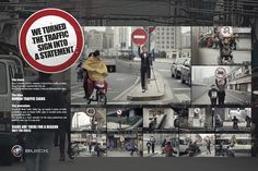 Human Traffic | Urban Living Design Ideas and Solutions Inspiration | Award-winning creative social good campaigns | Improving road and traffic safety posters | D&AD Impact