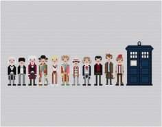 Looking for your next project? You're going to love The Eleven Doctors Pixel People by designer weelittlestitch.