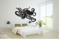 Wall Vinyl Sticker Decals Mural Art Decor Design Octopus Sea Fish Ocean 355 | eBay