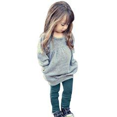 537ccda17c6e Toddler Girls 2 Pc. Outfit Soft Cotton Long Sleeve + Bottoms – Star Kidz  Clothing