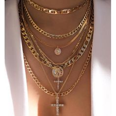 Incredibly Cindy Coin & Cross Necklace Set (PRE-ORDER) – Love Stylize - Women's Jewelry and Accessories-Women Fashion Cute Jewelry, Body Jewelry, Jewelry Accessories, Fashion Accessories, Jewelry Necklaces, Fashion Jewelry, Women Jewelry, Layering Necklaces, Diamond Necklaces