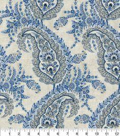 ED Ellen DeGeneres Upholstery Fabric 54''-Indigo La Breanull