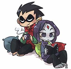 Robin and Raven. I don't ship them, but it think it's pretty cute.