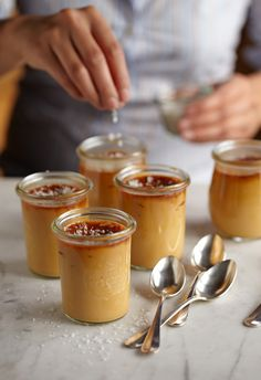 photo Noel Barnhurst  recipe: Butterscotch Pots de Crème...salted~      http://www.epicurious.com/recipes/food/views/Butterscotch-Pots-de-Creme-108701