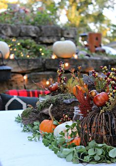Nature-Inspired Fall Centerpiece