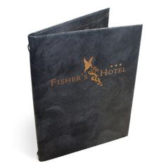 Marble-effect Bonded Leather Menu Covers. The Smart Marketing Group - Black tie event themed Restaurant menu presentation. Smart menu presentation products for hospitality.