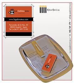 Cajas de cerillas para el restaurante La Gabinoteca en Madrid.