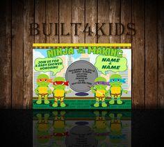 Teenage Mutant Ninja Turtles Baby Shower By Built4Kids On Etsy