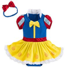 c1f5953a278 Details about Disney Snow White Baby Costume Outfit   Headband Size 3 6 9  12 18 24 Months