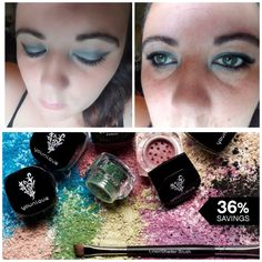 #Smokeyeye done in silver and black using July 2017 Kudo of the month  6pigments for 71 canadian and a free eye shadow and liner brush