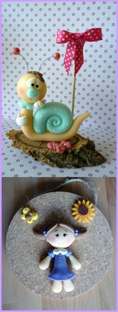 Porcelain Or China Refferal: 1801771613 Clay Projects, Clay Crafts, Projects To Try, Fondant Animals, Clay Animals, Fimo Clay, Polymer Clay Art, Clay Figurine, Cute Clay