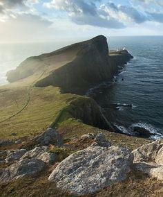 Neist Point lighthouse, Isle of Skye, Highland, Scotland Copyright: Gurvan Houedry