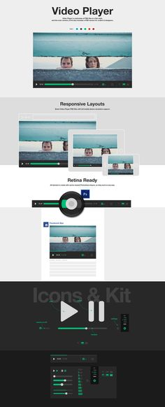 Check out Flat Full Set Video Player by HappyDonuts on Creative Market