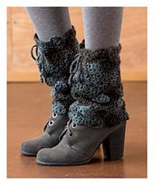 I love these leg warmers/spats from Rustic Modern Crochet by Yumiko Alexander.