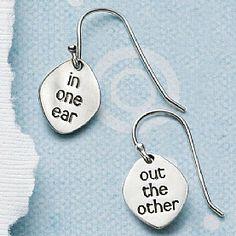 Silver Earrings: Buy In One Ear Silver Earrings from Pia Jewellery