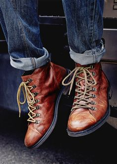 Xmas gift for him: Leather worker boots