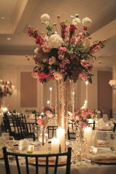 Simple Elegance: Real Weddings: Molly + Jeff courtesy of #ClaytonJenkinsPhotography #SidelinesFloral @Karyn Brooke AIFD  #pinkcenterpiece #elegantwedding #simpleelegance @iplanyourwed #kansascity #weddingplanner www.iplanyourwedding.com