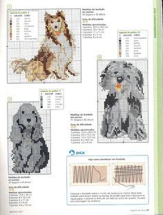 Gallery.ru / Фото #33 - собаки, схемы вышивок из интернета - poodel
