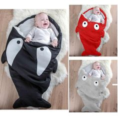 Fish Tail Blanket Bed Shark Baby Sleeping Bag Soft Cotton Blankets