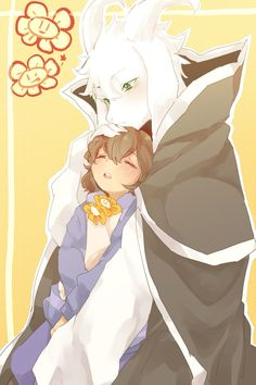 Undertale- Asriel and Frisk. Undertale Undertale, Frisk, Asriel Wallpaper, Toby Fox, Underswap, Kawaii, Fandom, Manga, Video Game