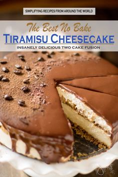 The Best No Bake Tiramisu Cheesecake